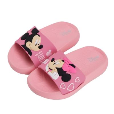 迪士尼童鞋 米妮 立體造型防水拖鞋-粉(柏睿鞋業)