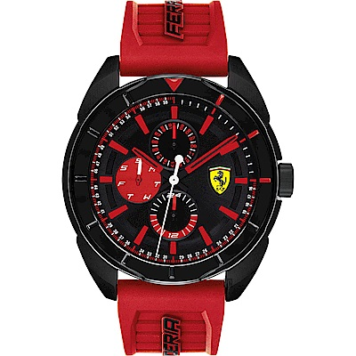 Scuderia Ferrari 法拉利 爭鋒對決日曆手錶(0830576)-44mm