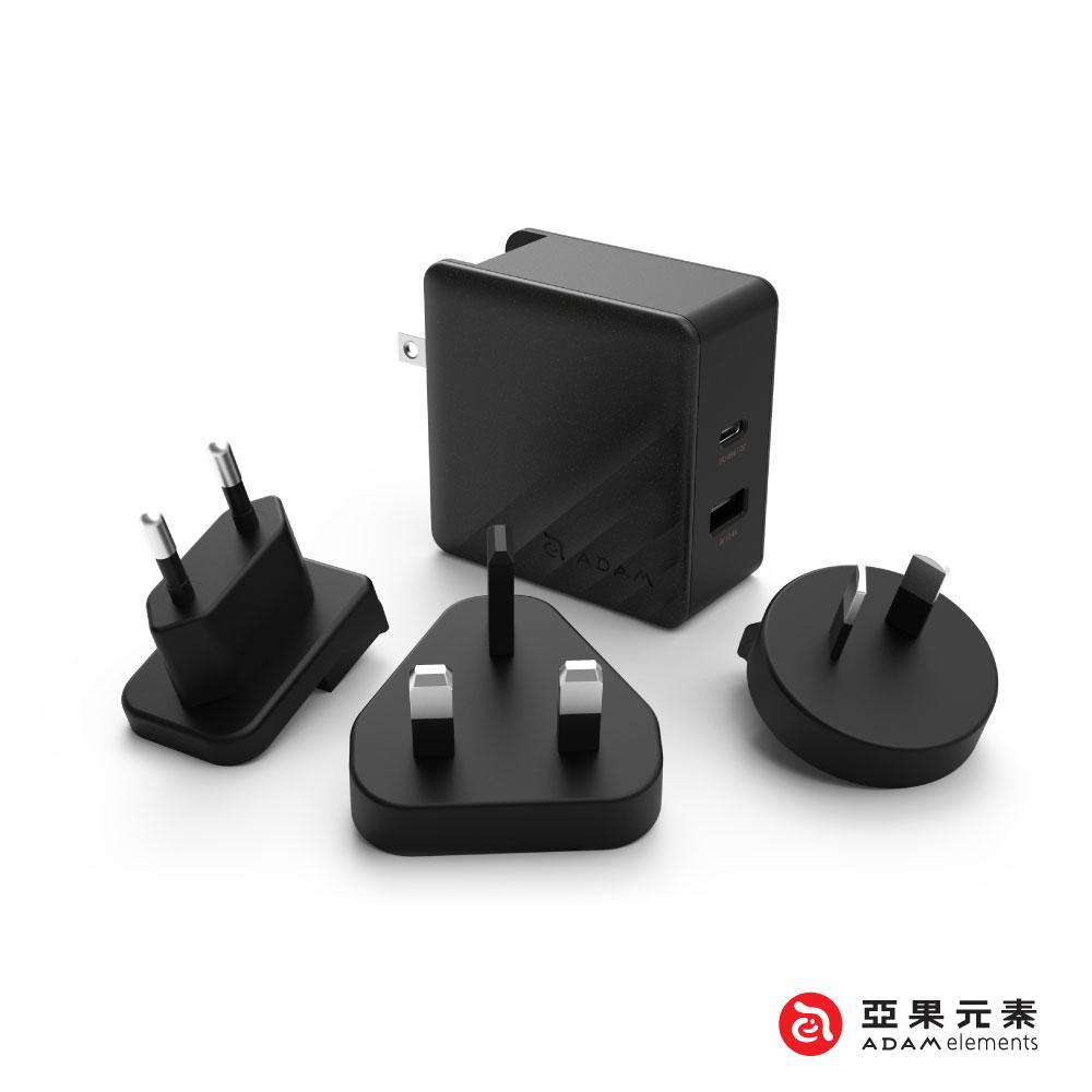 亞果元素 OMNIA P5 旅行萬用 USB-C PD / QC3.0 快速充電器