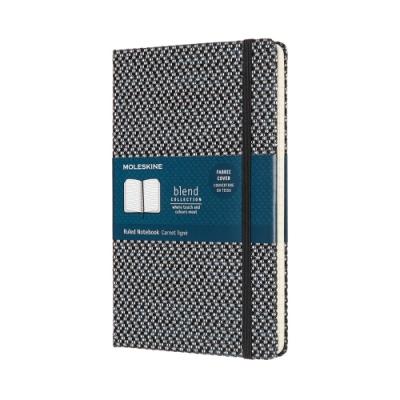 MOLESKINE BLEND織布系列限量筆記本-L型橫線黑