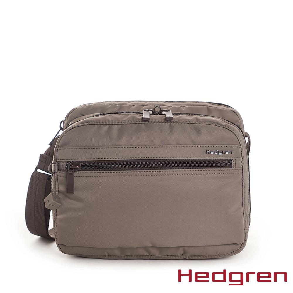 【Hedgren】棕多層收納斜背包 - HIC226 METRO