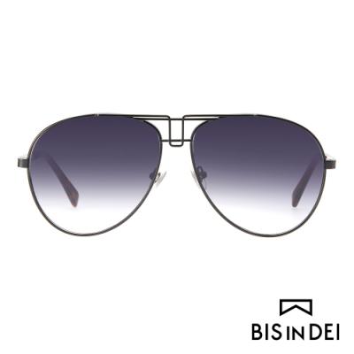 BIS IN DEI 雙槓名模框太陽眼鏡-黑