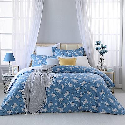 BBL Premium 夏夜玫瑰100%萊賽爾纖維-天絲.印花雙人兩用被四件式床包組