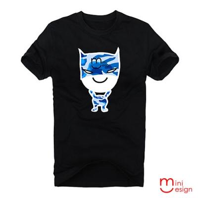 (男款)迷彩BATMAN公仔潮流設計短T 三色-Minidesign