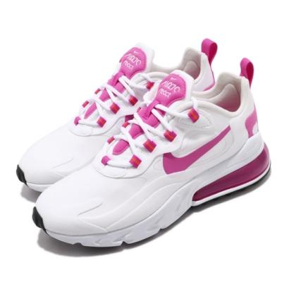 Nike 休閒鞋 Air Max 270 React 女鞋 舒適 避震 氣墊 簡約 球鞋 穿搭 白 粉 CJ0619100