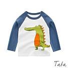 童裝 撞色可愛鱷魚印花上衣 TATA KIDS