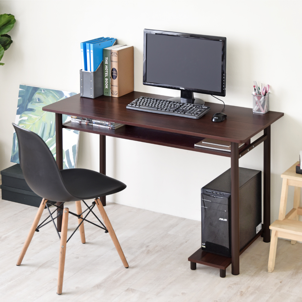 《HOPMA》DIY巧收多功能圓腳工作桌(含螢幕架)-寬120 x深54 x高74.5cm product image 1