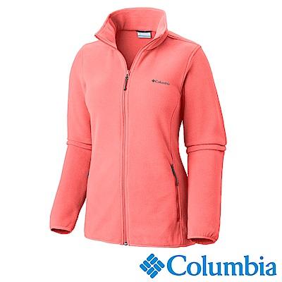 Columbia 哥倫比亞 女款-立領刷毛外套-粉紅 UAR67640PK