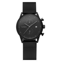 TAYROC  潮流騎士米蘭腕錶-黑(TXM085)/42mm