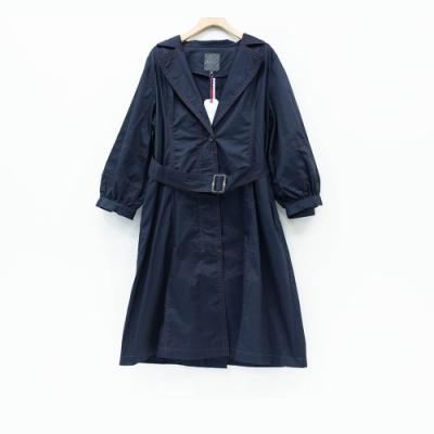 beartwo - 車線長版風衣 - 藍