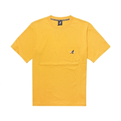 Kangol T恤 Casual Tee 運動休閒 男款 袋鼠 基本 圓領 棉質 穿搭 落肩 口袋 黃 藍 6021100862