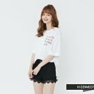 H:CONNECT 韓國品牌 女裝-正反印字微寬鬆T-shirt-白