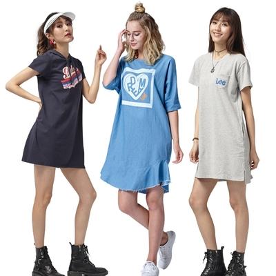 【時時樂限定】LEE女生休閒短袖洋裝-五款選