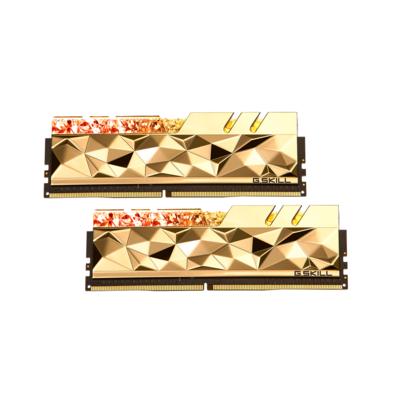 G.SKILL芝奇 Trident Z Royal Elite 皇家戟尊爵版 DDR4-3600MHz 16GB桌上型電競記憶體-金(8G*2)