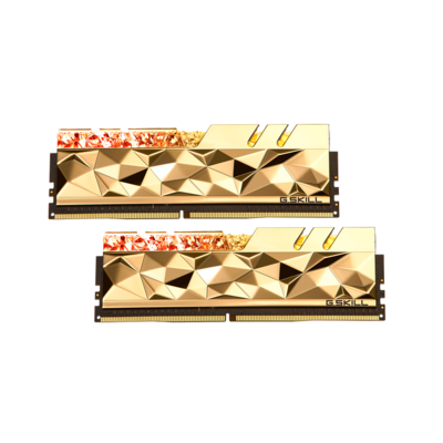 G.SKILL芝奇 Trident Z Royal Elite 皇家戟尊爵版 DDR4-4000MHz 32GB桌上型電競記憶體-金(2x16GB)