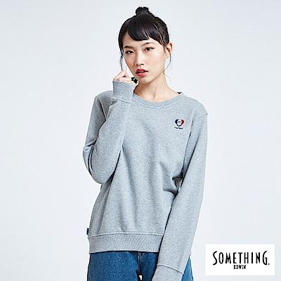 買一送一 BONBON法鬥哥 小刺繡厚長袖T恤-女-灰色