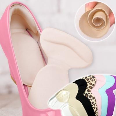 EZlife矽膠加厚防滑防磨鞋後跟貼墊(2雙組)