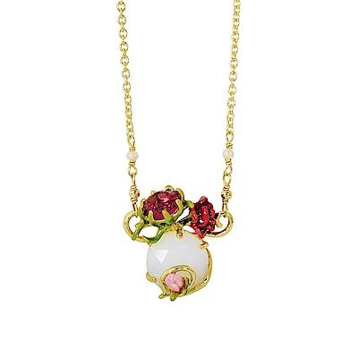 Les Nereides 花卉系列 凡爾賽玫瑰寶石項鍊