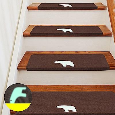 半島良品 加長版夜光樓梯止滑墊10入(多款任選)