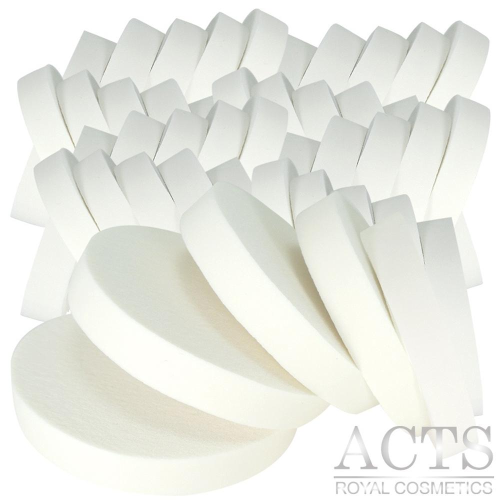 【滿千8折】ACTS維詩彩妝 乳膠海綿 大圓形化妝海綿 50片入