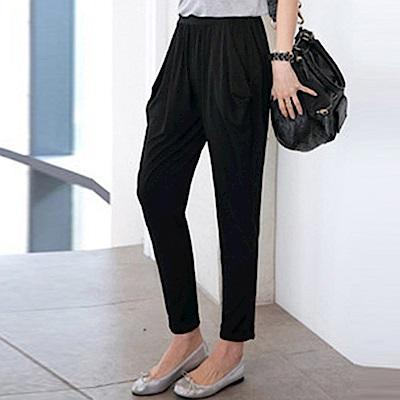 IMStyle 新款時尚寬鬆哈倫九分褲(黑色)