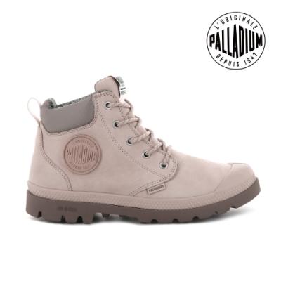 PALLADIUM PAMPA CUFF LITE+ WP+ LTH輕量皮革防水靴-中性-玫瑰粉
