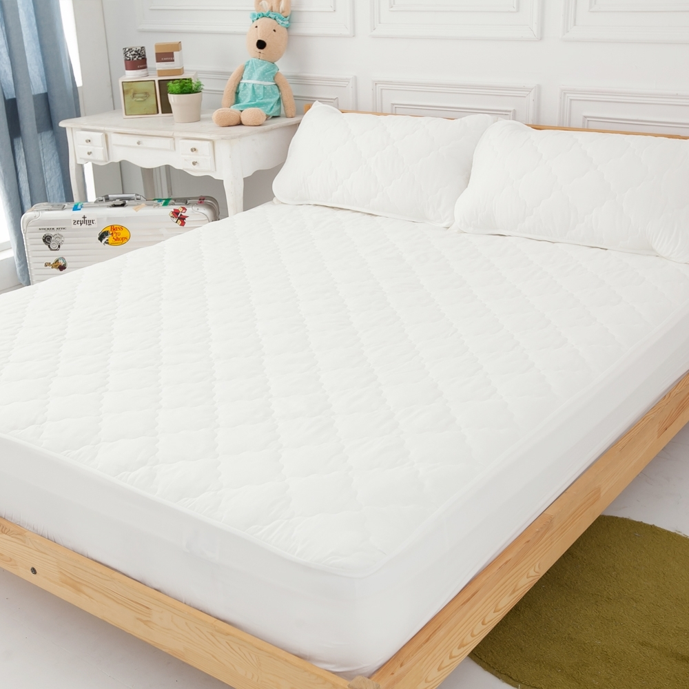 LAMINA 加大 奈米銀抗菌包式三件式保潔墊+(枕頭X2)