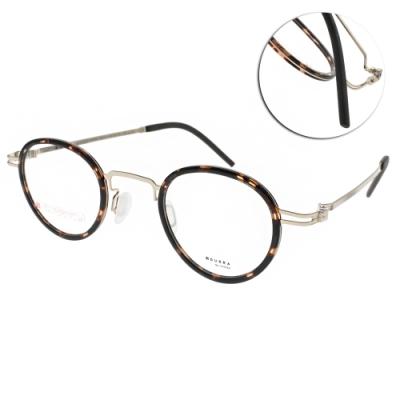 VYCOZ眼鏡 DURRA系列 薄鋼經典圓框款 /琥珀棕-金 #DR9004 GOLD-H