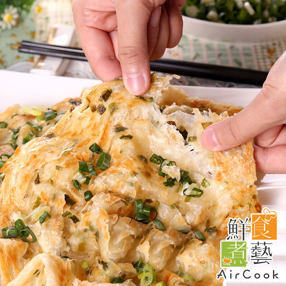 鮮食煮藝 古早味拔絲蔥抓餅50片組(140g/片 5片/包)