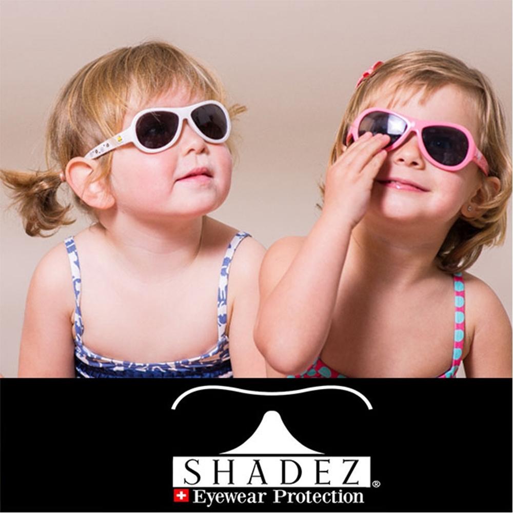 【瑞士SHADEZ】兒童太陽眼鏡 白色蜜蜂 0-3歲