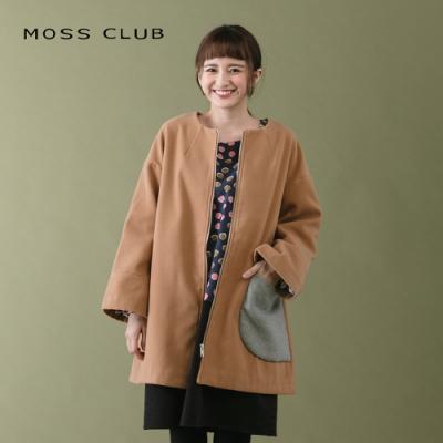 新降【MOSS CLUB】拼接色大口袋-大衣(三色)