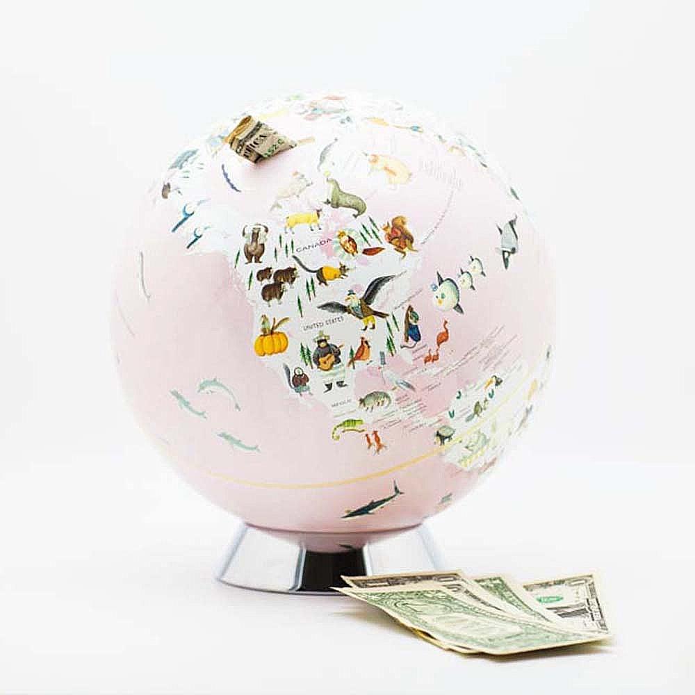 Skyglobe 10吋粉色童話動物版存錢筒(英文版)
