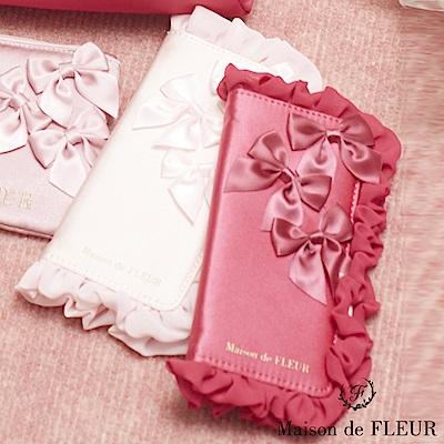 Maison de FLEUR  甜美蝴蝶結配飾手機殼