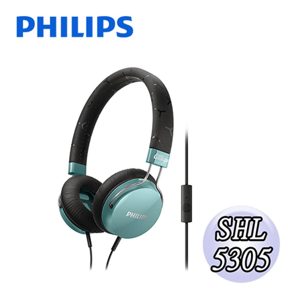 PHILIPS 飛利浦 頭戴式耳機麥克風 SHL5305TL