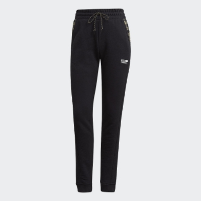 adidas 長褲 運動長褲 縮口褲 慢跑 健身 女款 黑 GK0703