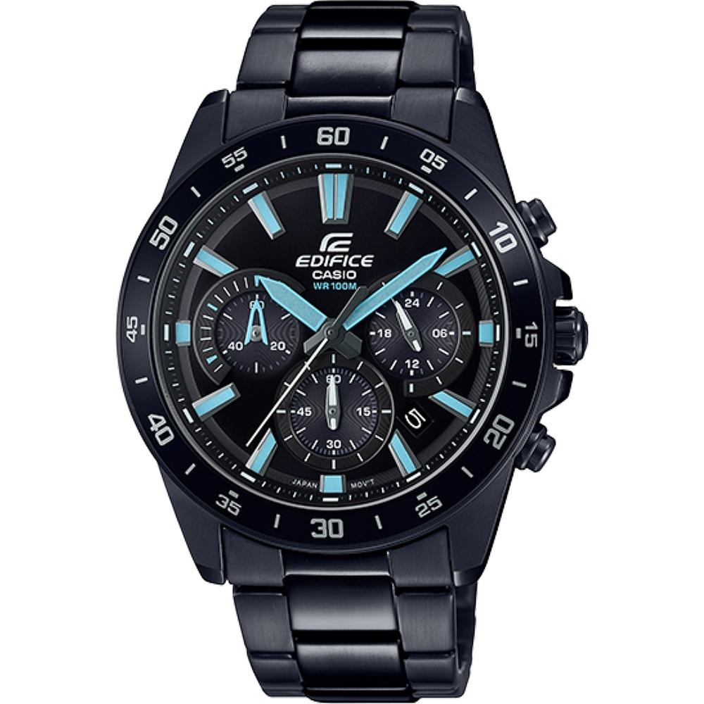 EDIFICE 人氣暢銷賽車造型計時男錶-IP黑(EFV-570DC-1A)/42mm @ Y!購物