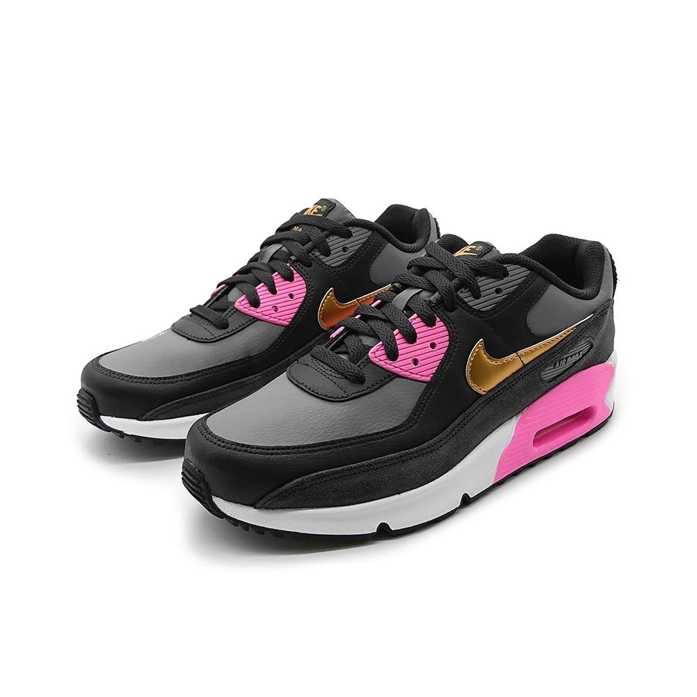 NIKE  運動鞋 慢跑 氣墊 緩震 大童 女鞋 黑粉 CD6864025 AIR MAX 90 LTR GS