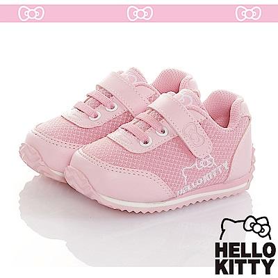 HelloKitty 極簡風透氣輕量減壓休閒慢跑童鞋-粉