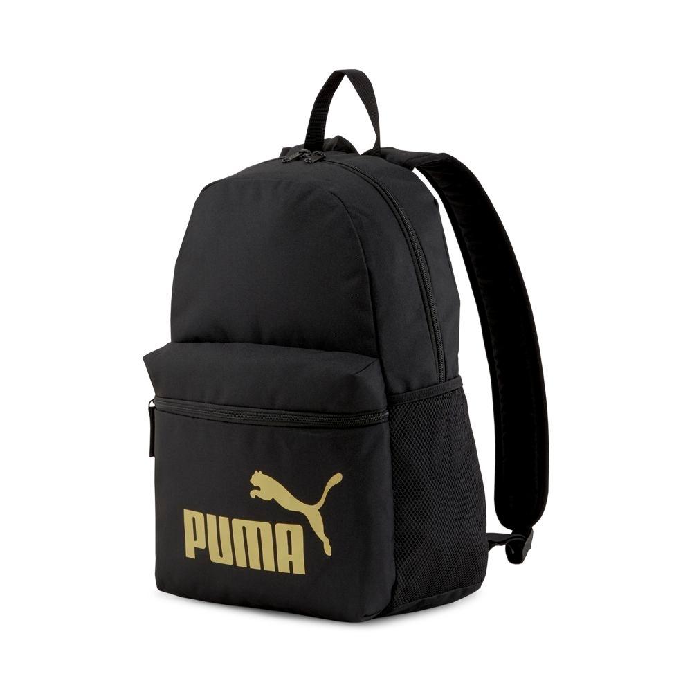 PUMA Phase後背包-黑金-07548749