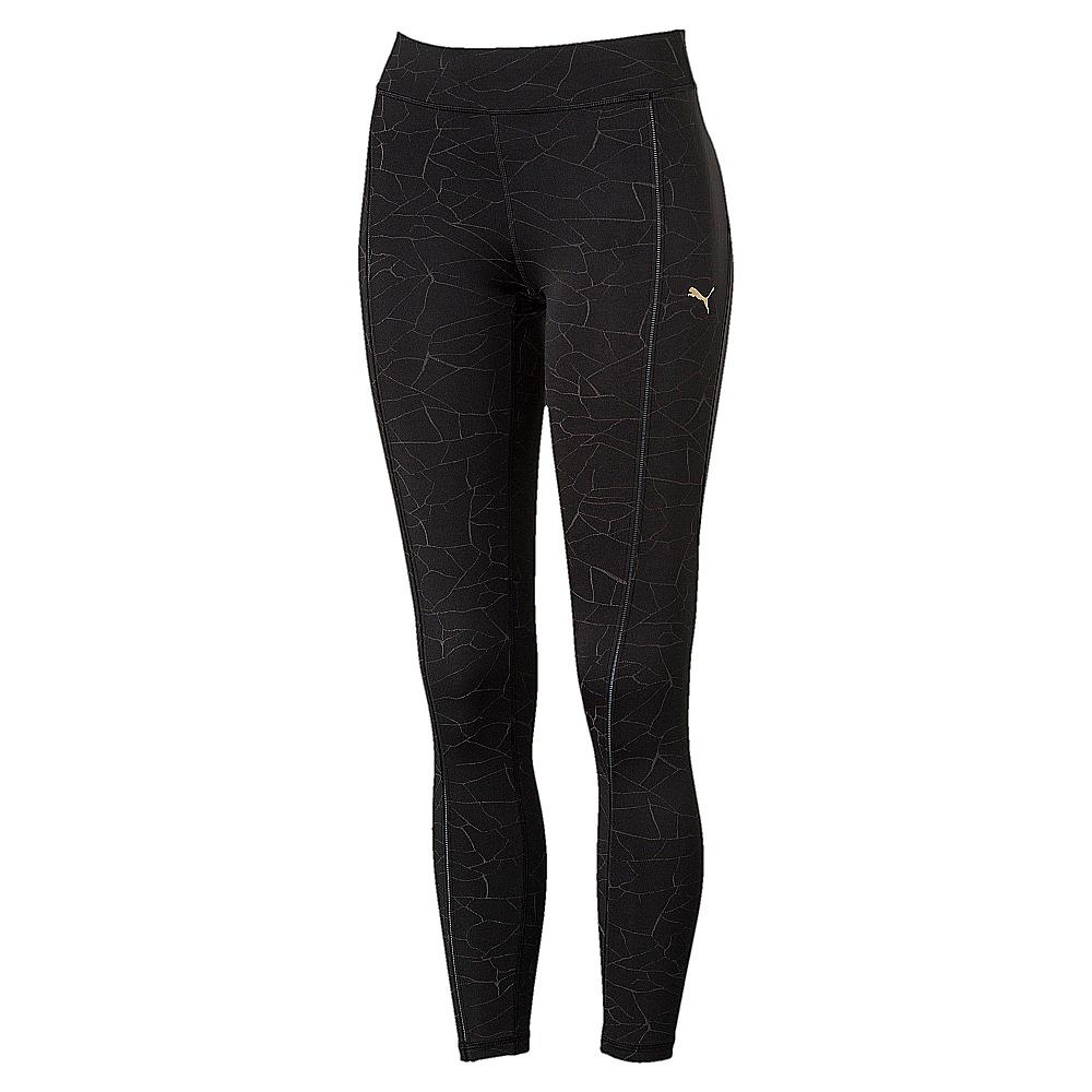 PUMA-女性訓練系列滿版反光緊身褲-黑色-歐規