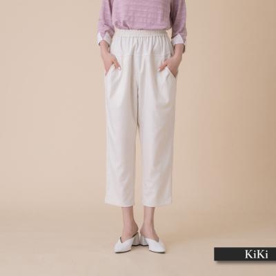 【KiKi】休閒舒適直筒-長褲(二色/版型寬鬆)