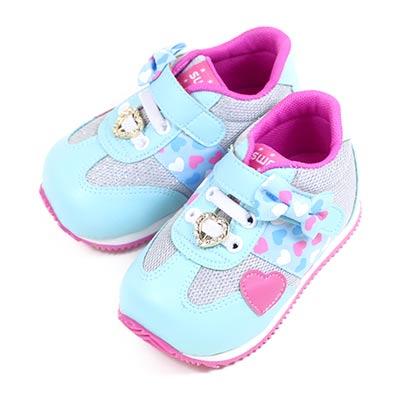 Swan天鵝童鞋--甜美愛心小童機能學步鞋 1566-藍