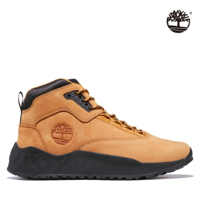 Timberland 男款小麥色Solar Wave磨砂革中筒健行靴|A2BP9