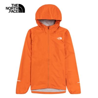 The North Face北面男款橘色防水透氣連帽衝鋒衣|536GV3Q