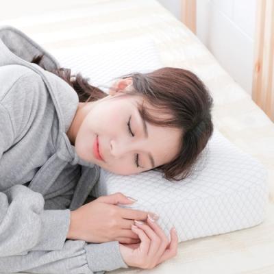 米夢家居 加厚12cm側睡護肩仰睡止鼾-工學灌模記憶中高枕