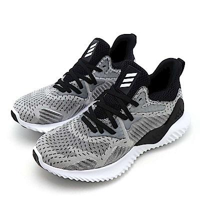 ADIDAS-ALPHABOUNCE女慢跑鞋-灰 色