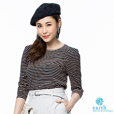 earth music  多色條紋設計T