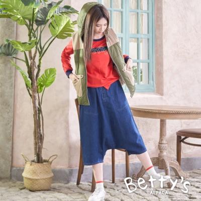 betty's貝蒂思 低檔造型牛仔飛鼠褲(牛仔藍)