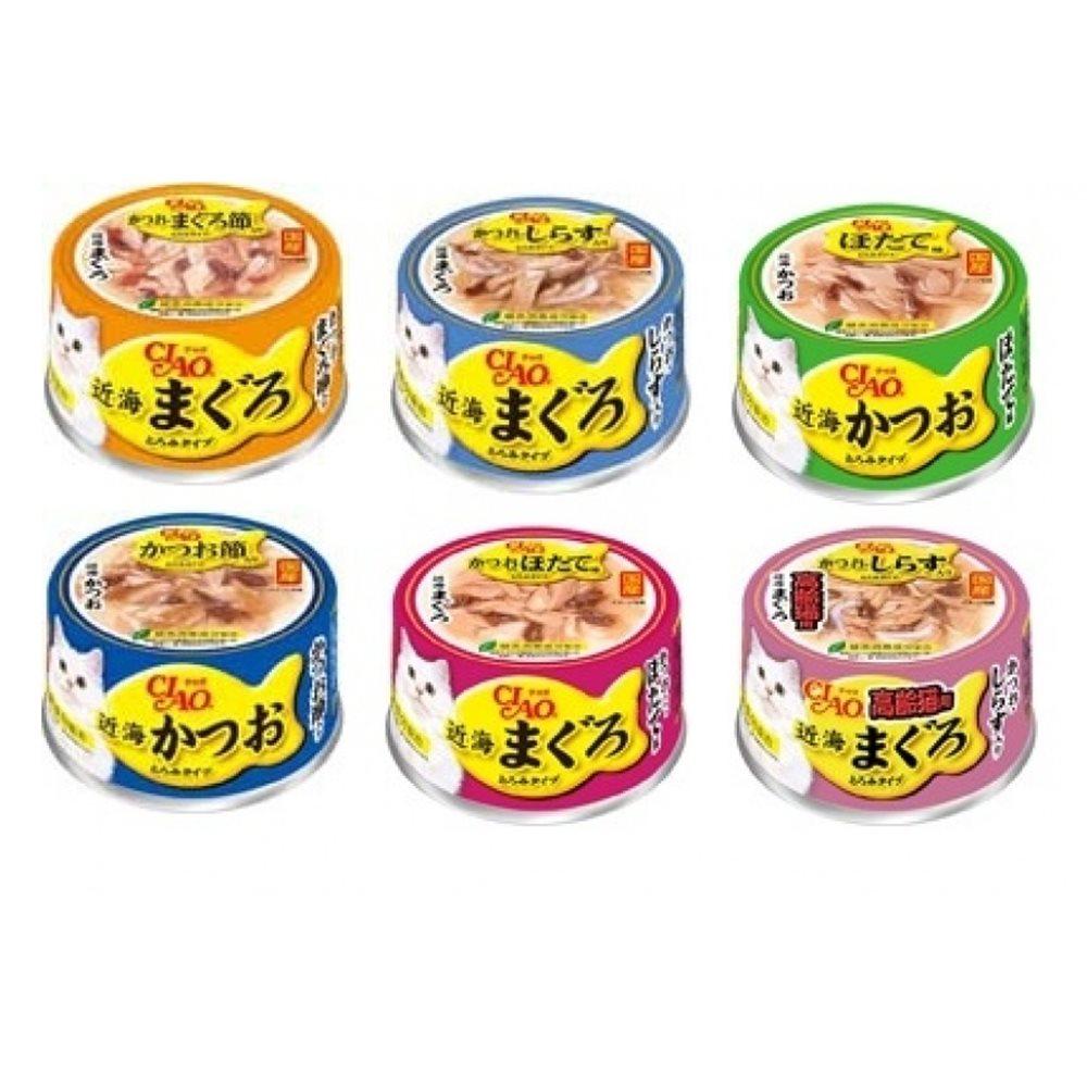 日本 CIAO INABA 貓咪近海餐罐系列 80g 24罐組
