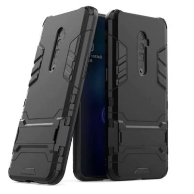 PKG OPPO Reno 10倍變焦版  保護殼(內軟外硬+隱藏支架)2合1防護殼套-黑